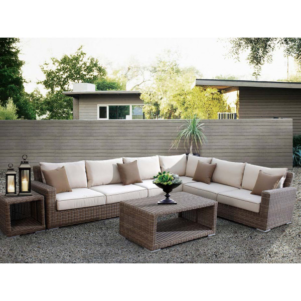 Sunset West Coronado 6 Piece Wicker Sectional Set