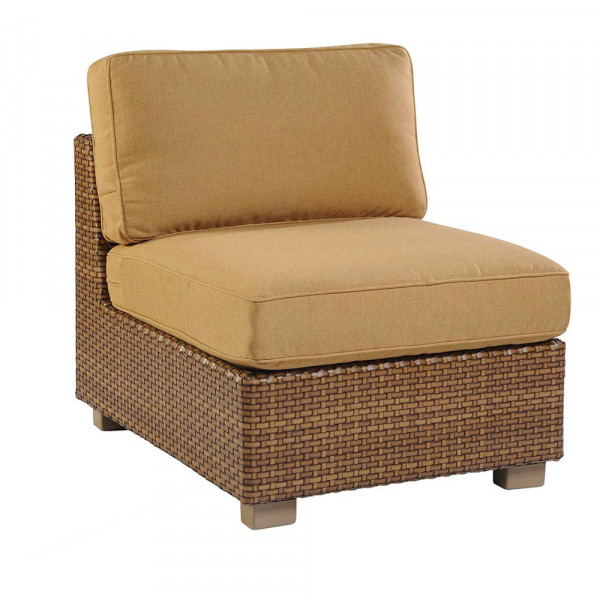 WhiteCraft by Woodard Sedona Armless Wicker Lounge Chair