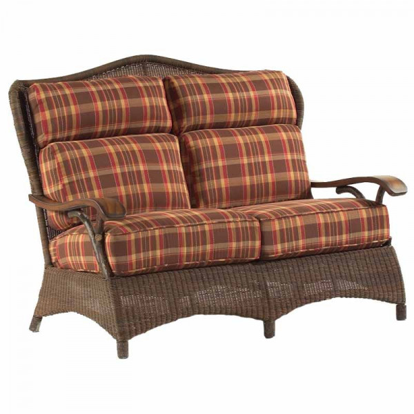 WhiteCraft by Woodard Chatham Run Wicker Loveseat - Replacement Cushion
