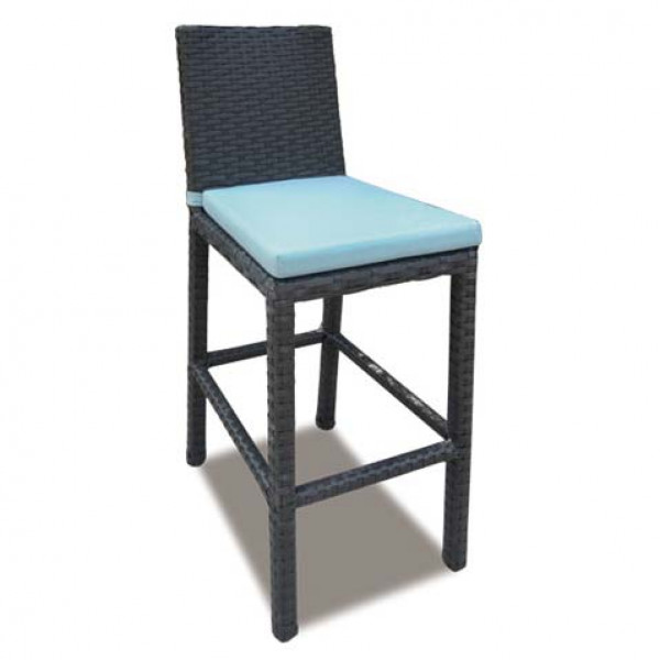 Longboat Key Santa Monica Armless Wicker Bar Chair
