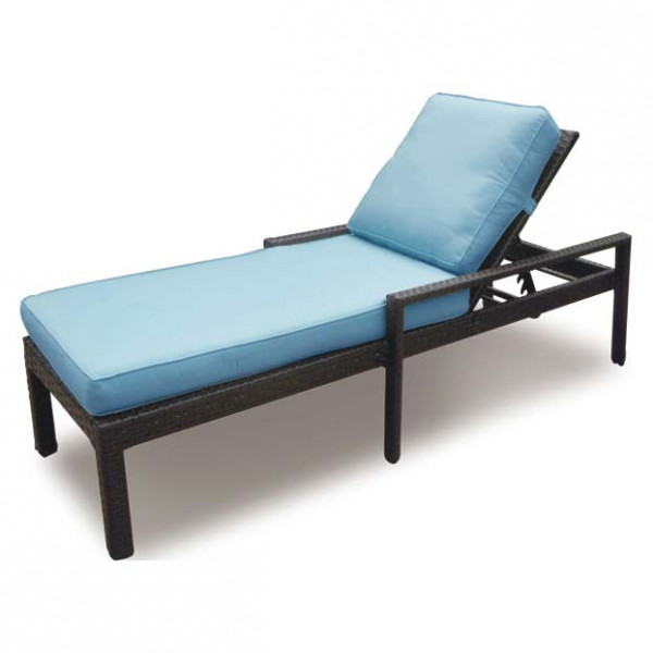 Longboat Key Santa Monica Adjustable Wicker Chaise Lounge