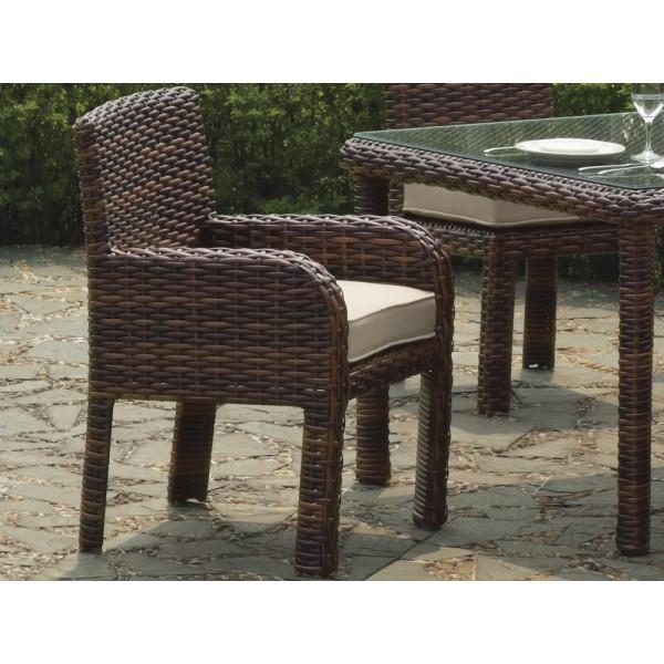 South Sea Rattan Saint Tropez Wicker Dining Chair