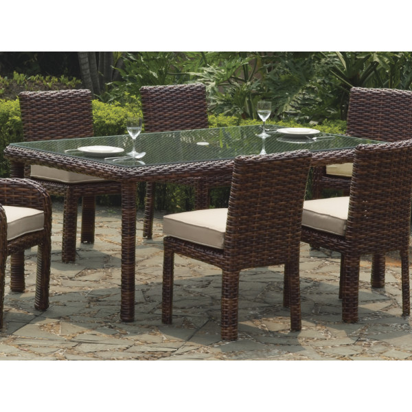 South Sea Rattan Saint Tropez Rectangular Wicker Dining Table