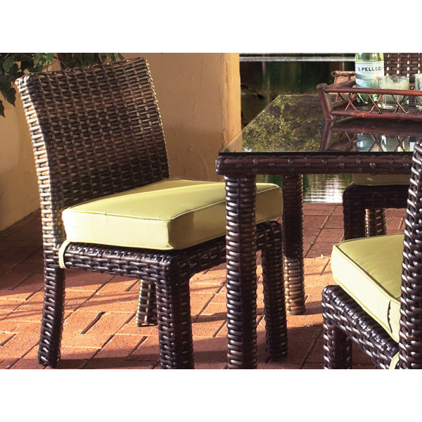 South Sea Rattan Saint Tropez Armless Wicker Dining Chair