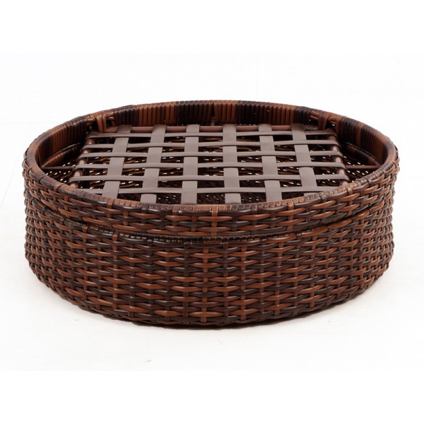 South Sea Rattan Saint Tropez Round Wicker Ottoman