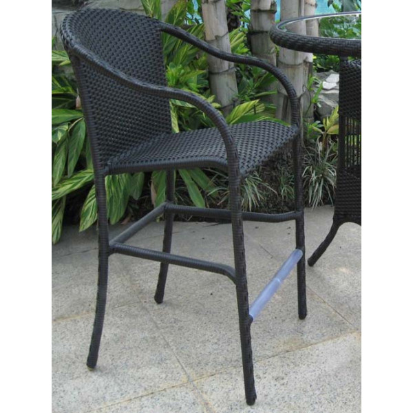 Longboat Key Summit Wicker Bar Chair