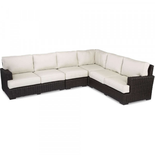 Sunset West Cardiff 4 Piece Wicker Sectional Set