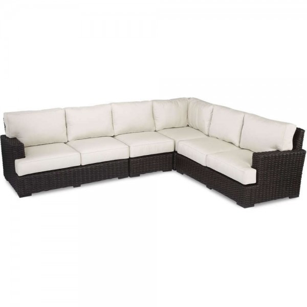 Sunset West Cardiff 4 Piece Wicker Sectional Set - Replacement Cushion
