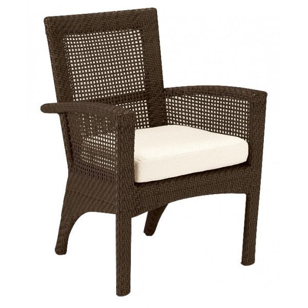WhiteCraft By Woodard Trinidad Wicker Dining Chair Replacement Cushion Wh