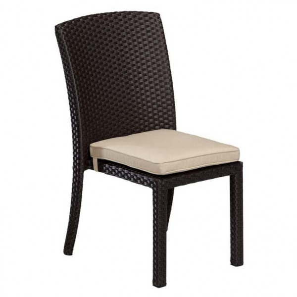 Sunset West Solana Armless Wicker Dining Chair