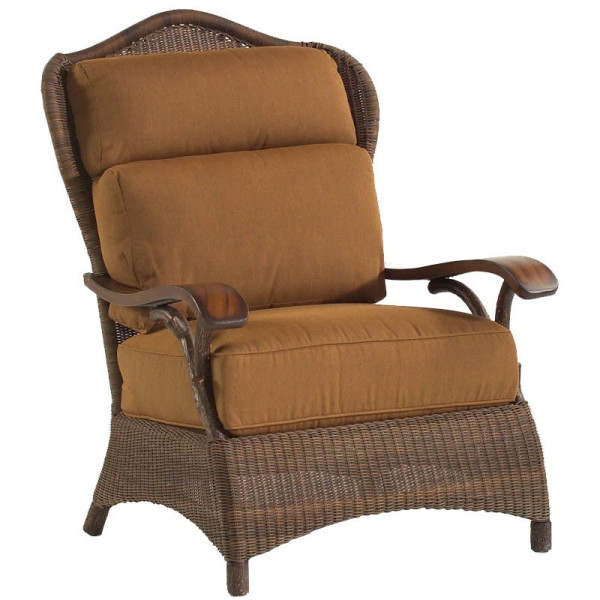 WhiteCraft by Woodard Chatham Run Wicker Lounge Chair - Replacement Cushion