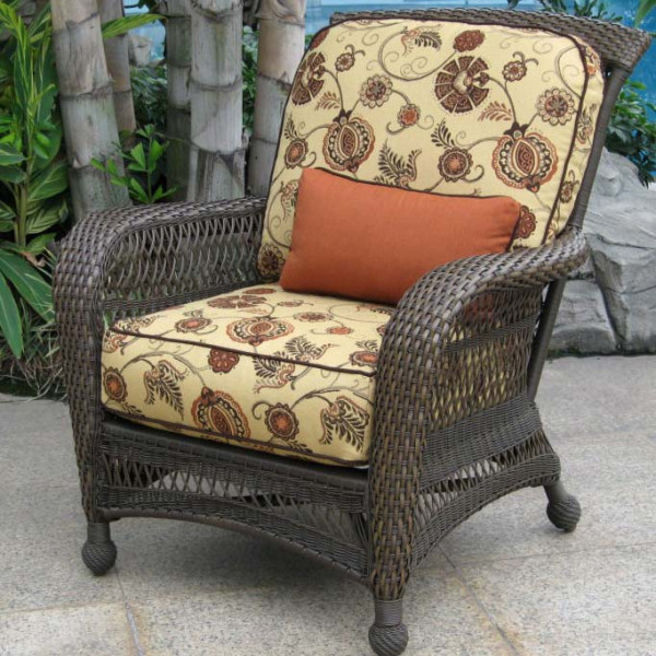 Longboat Key Incline Wicker Lounge Chair