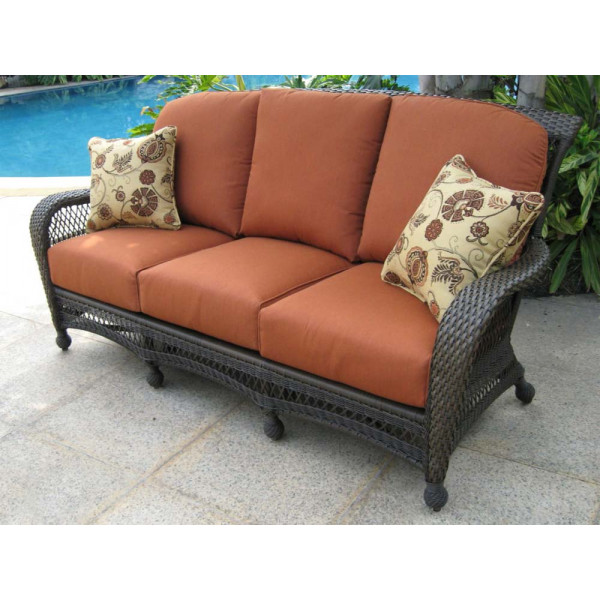 Longboat Key Incline Wicker Sofa