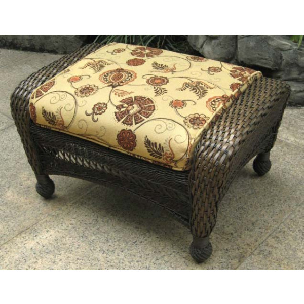 Longboat Key Incline Wicker Ottoman