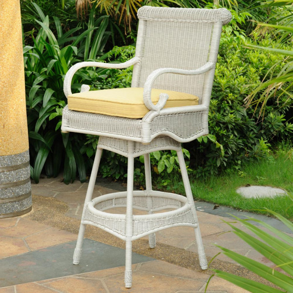 South Sea Rattan Weston Wicker Bar Chair