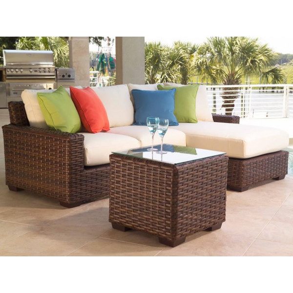 Lloyd Flanders Contempo 3 Piece Wicker Sectional Set