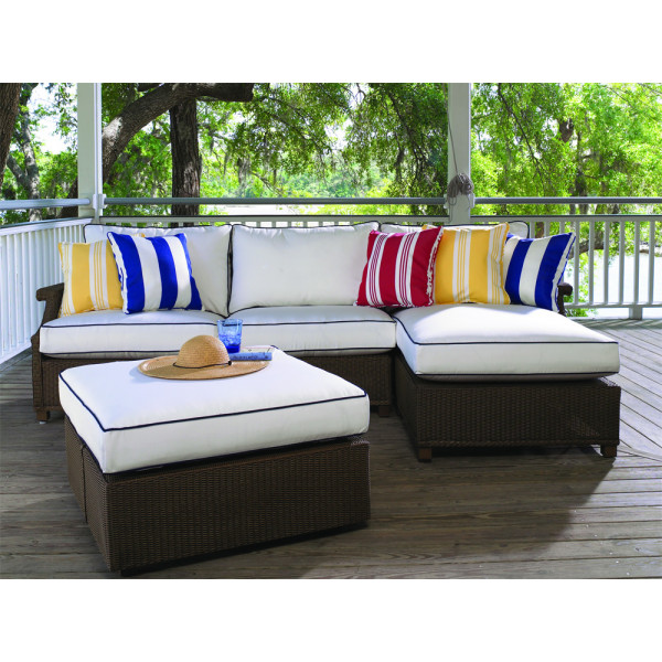 Lloyd Flanders Hamptons 4 Piece Wicker Sectional Set