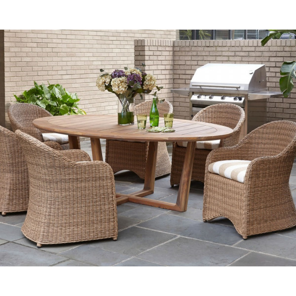 Lloyd Flanders Tobago 7 Piece Wicker Dining Set