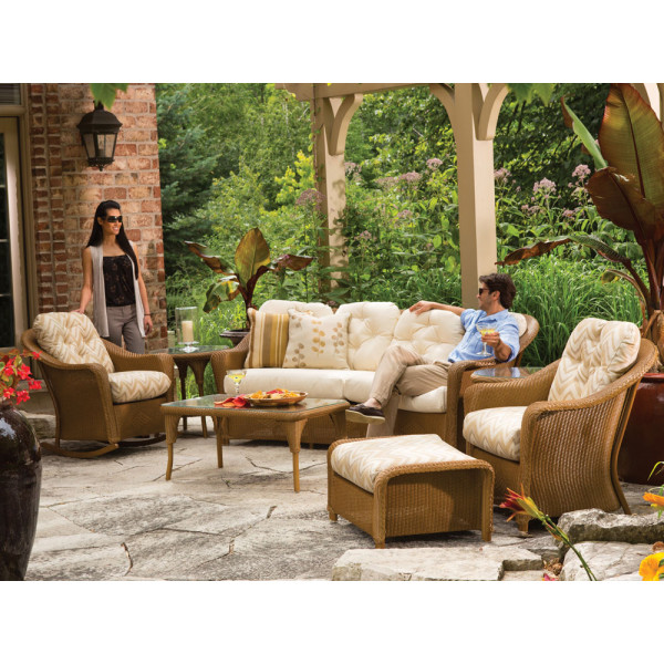 Lloyd Flanders Reflections 7 Piece Wicker Conversation Set