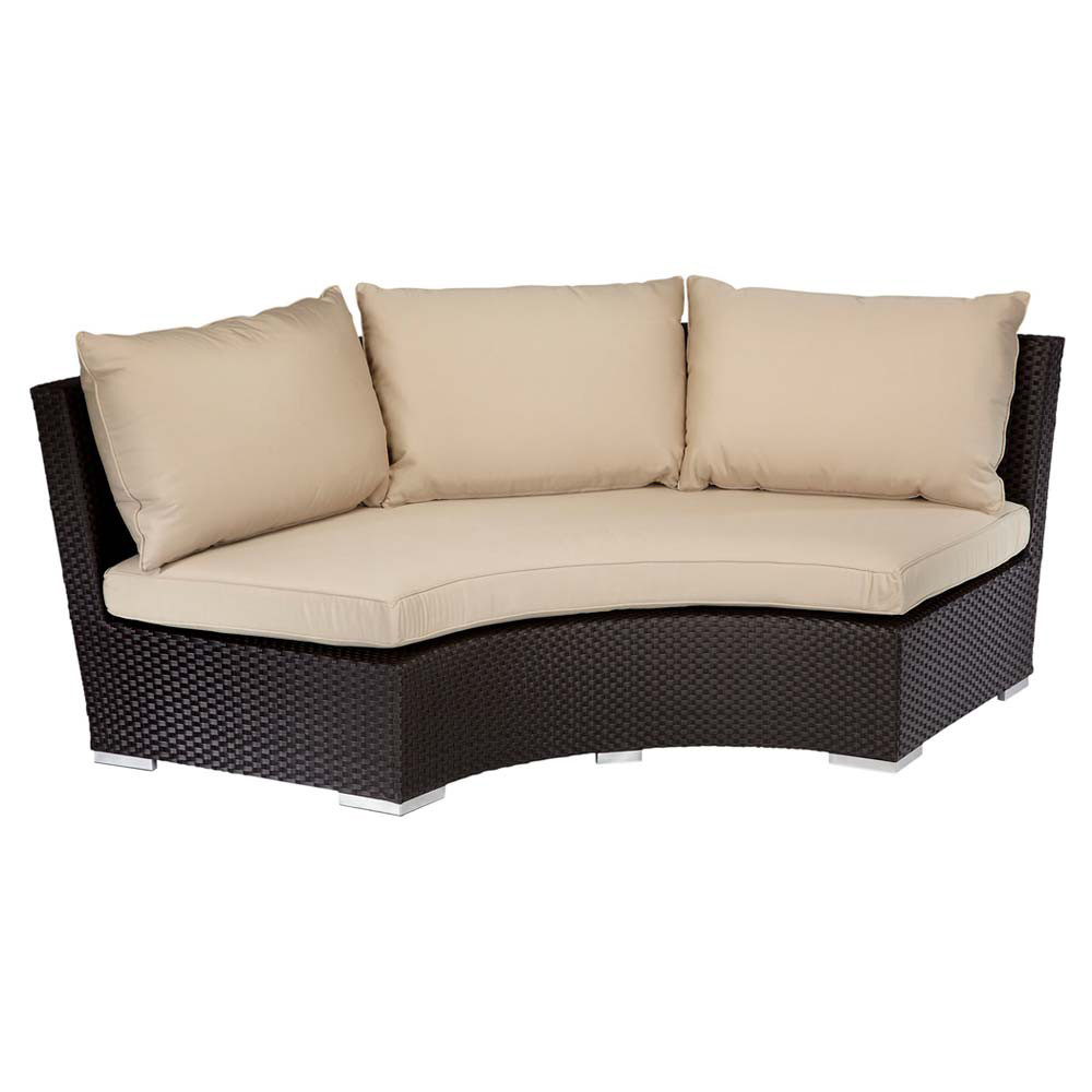 Sunset west solana 1 4 round sofa for Divan furniture