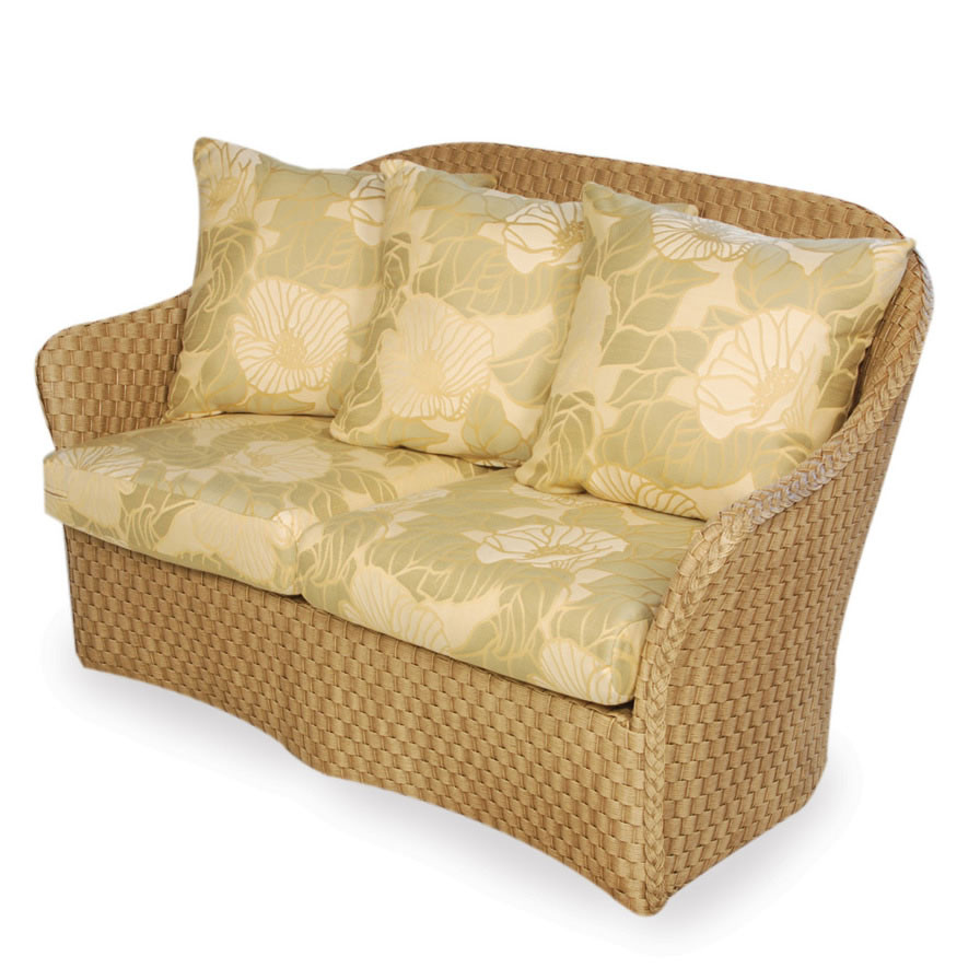 Lloyd Flanders Canyon Love Seat With Contemporary Pillows Replacement Cushion