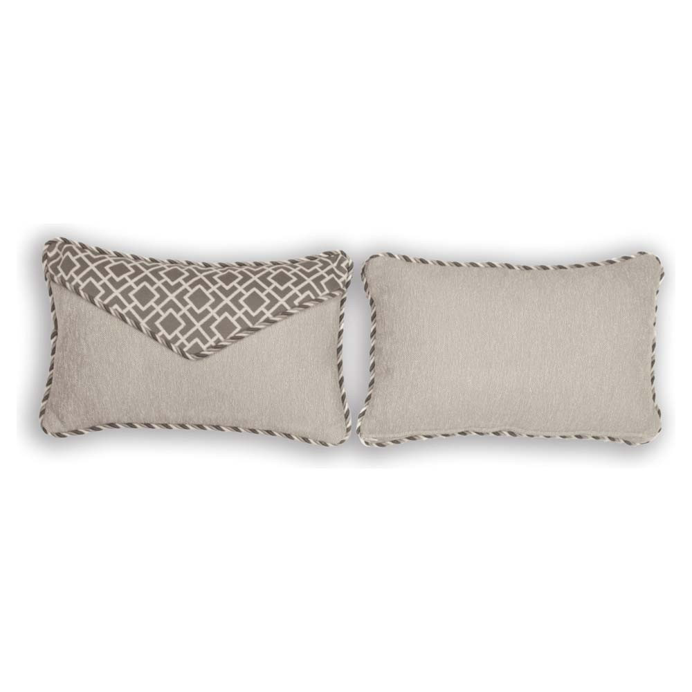 Throw Pillows For Wicker Furniture : South Sea Rattan All Weather Platinum Small Throw Pillow - WickerCentral.com