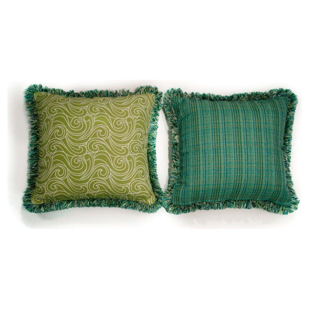 Throw Pillows For Wicker Furniture : South Sea Rattan All Weather Aegean Large Throw Pillow - WickerCentral.com