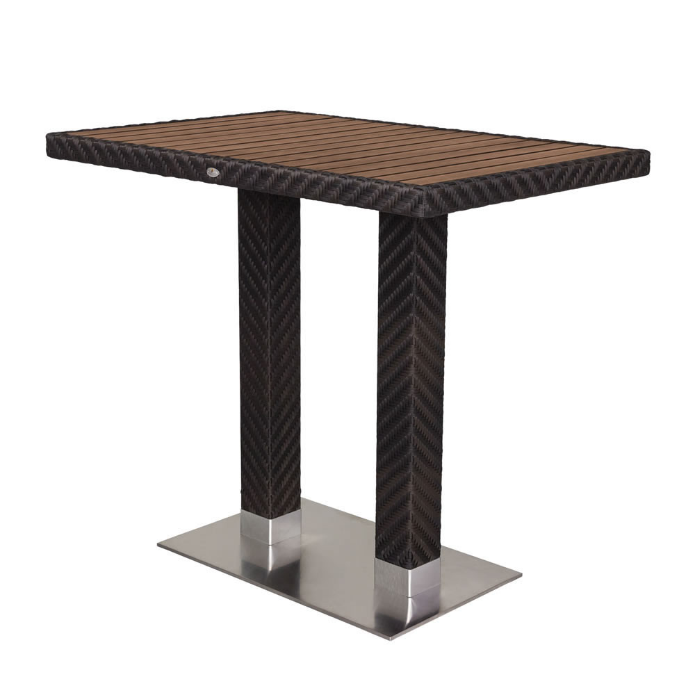 source outdoor arizona rectangular wicker bar table. Black Bedroom Furniture Sets. Home Design Ideas