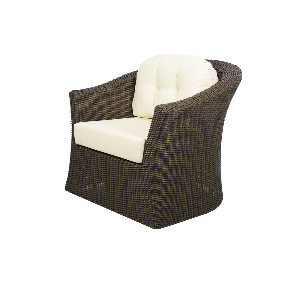 Source outdoor wellington wicker swivel chair wicker for Outdoor swivel chairs