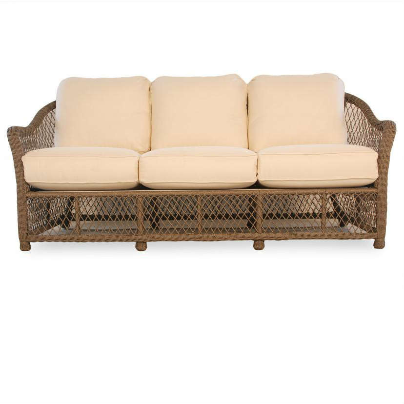 lloyd flanders vineyard wicker sofa replacement cushion. Black Bedroom Furniture Sets. Home Design Ideas