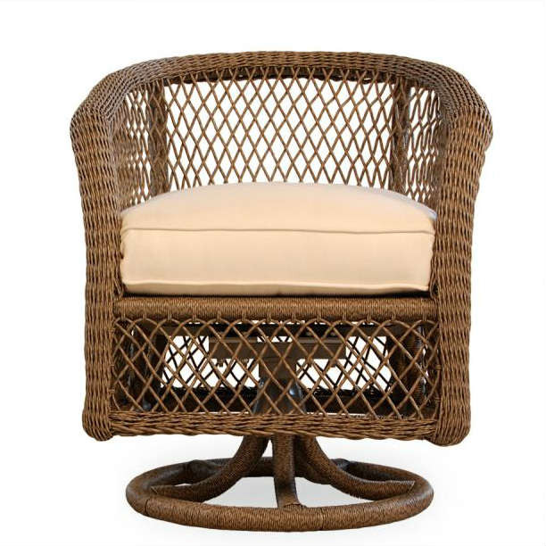Lloyd Flanders Vineyard Wicker Swivel Dining Chair Replacement Cushion Wi
