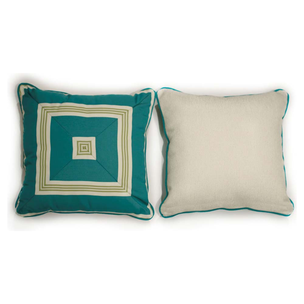 South Sea Rattan All Weather Aquamarine Medium Throw Pillow - WickerCentral.com