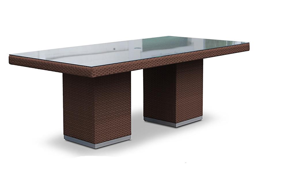 Hospitality rattan sydney rectangular wicker dining table for Dining tables sydney