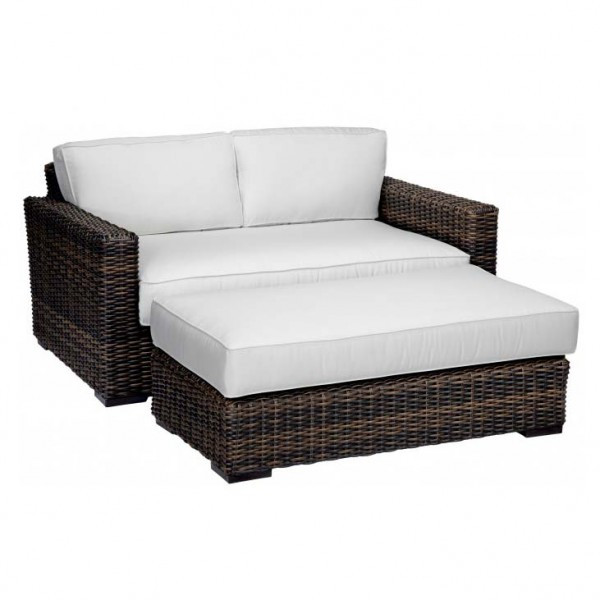 sunset west montecito wicker double chaise replacement cushion. Black Bedroom Furniture Sets. Home Design Ideas