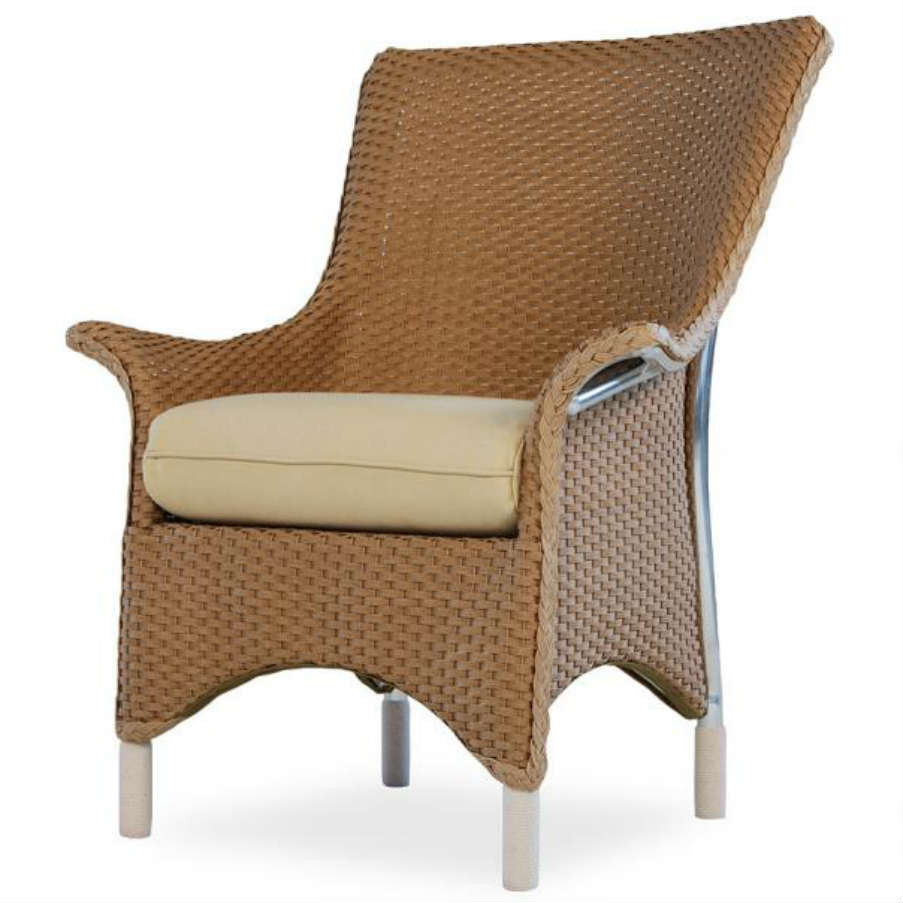 Lloyd Flanders Mandalay Wicker Dining Arm Chair Replacement Cushion Wicke