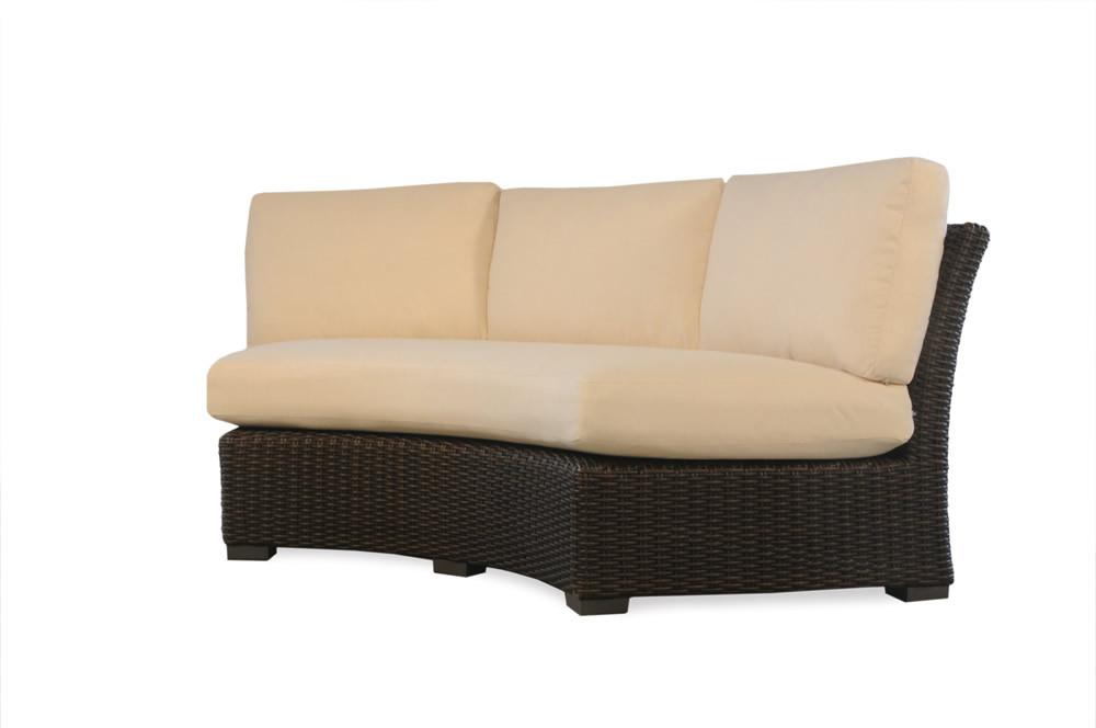 Lloyd Flanders Mesa Wicker Curved Sofa Wicker Sofas Wicker Seating