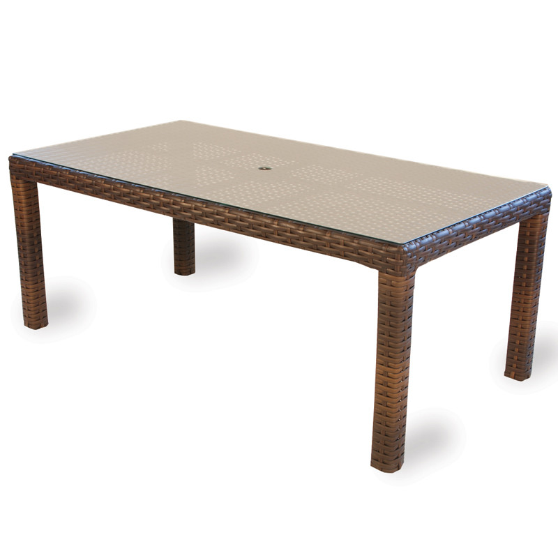 Lloyd Flanders Contempo Wicker 72 X 40 Dining Table