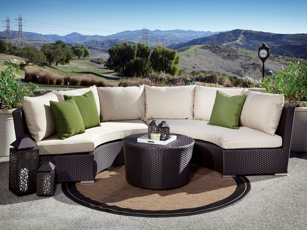 Curved Circular Outdoor Wicker Sectional Sets Wickercentral Com