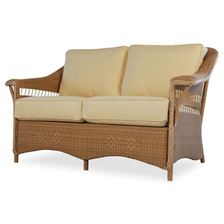 Lloyd Flanders Nantucket Wicker Love Seat Replacement Cushion