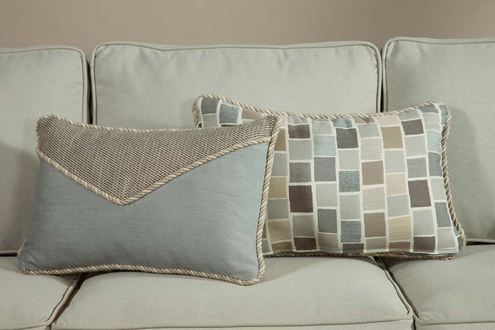 Throw Pillows For Wicker Furniture : South Sea Rattan All Weather Slate Small Throw Pillow - WickerCentral.com