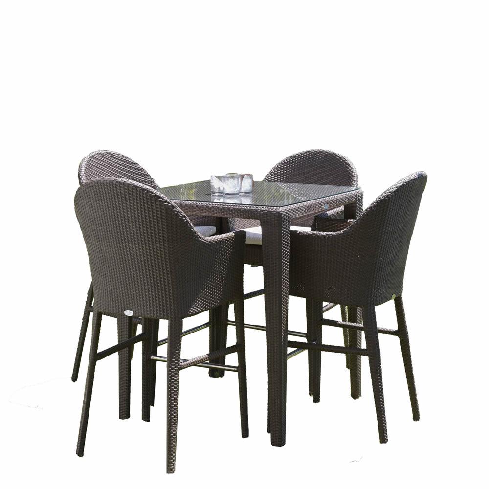 Hospitality Rattan Kenya 5 Piece Wicker Dining Set