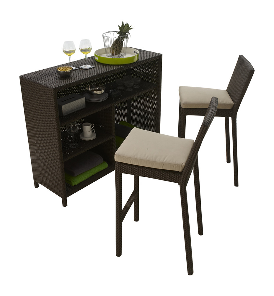 hospitality rattan sydney 3 piece wicker bar set wicker. Black Bedroom Furniture Sets. Home Design Ideas