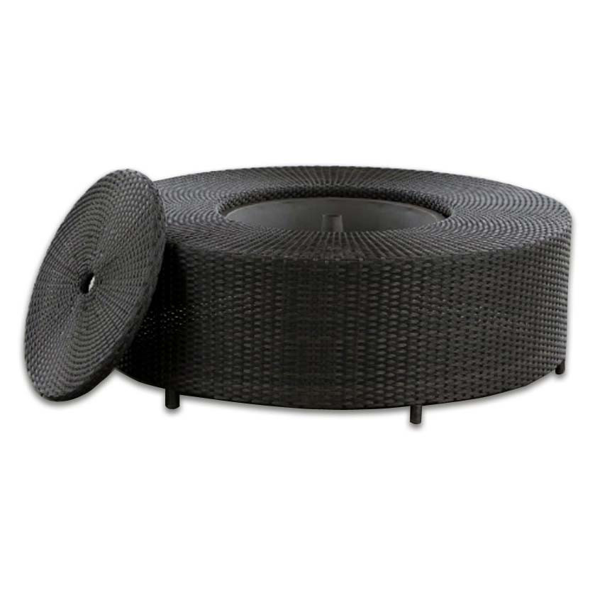 Source Outdoor Circa Wicker Round Ice Coffee Table