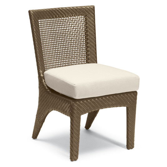 Whitecraft By Woodard Trinidad Wicker Dining Side Chair With Seat Cushion