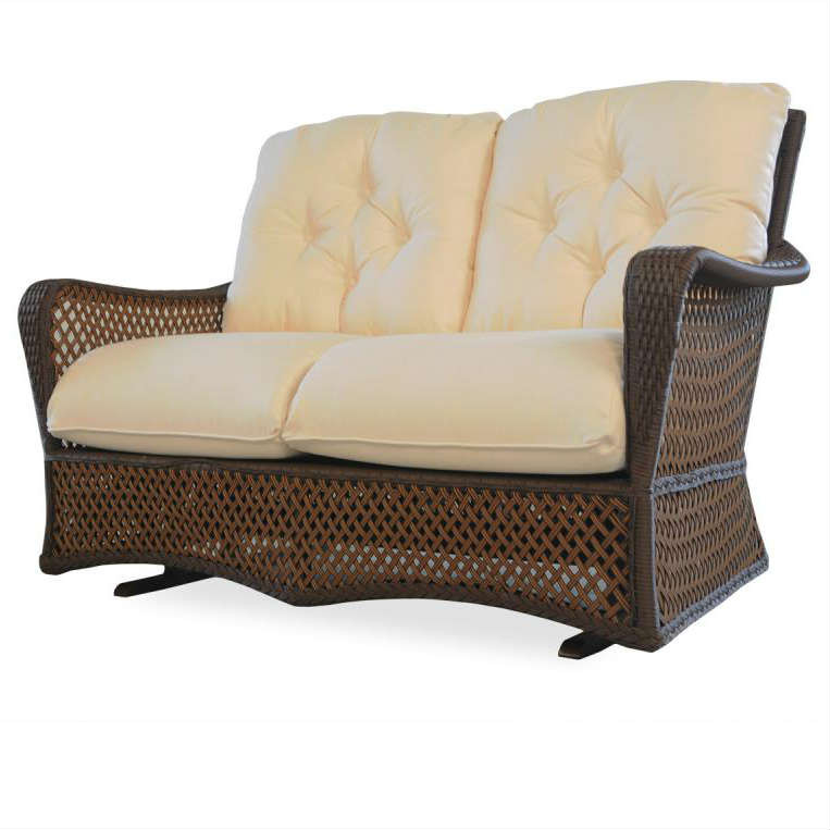 Lloyd Flanders Grand Traverse Wicker Love Seat Glider