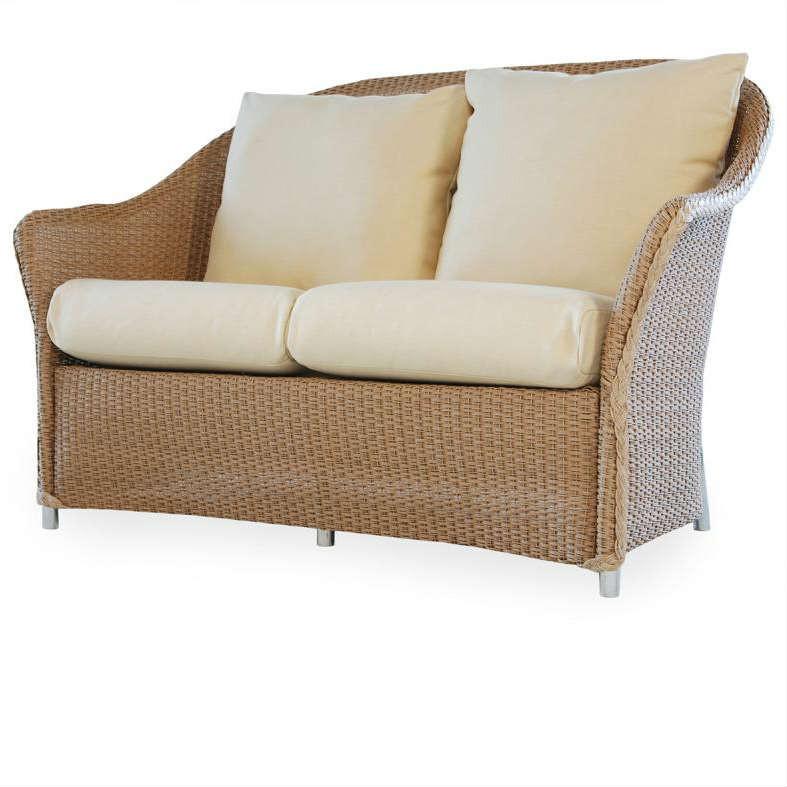 Lloyd Flanders Weekend Retreat Wicker Love Seat Replacement Cushion