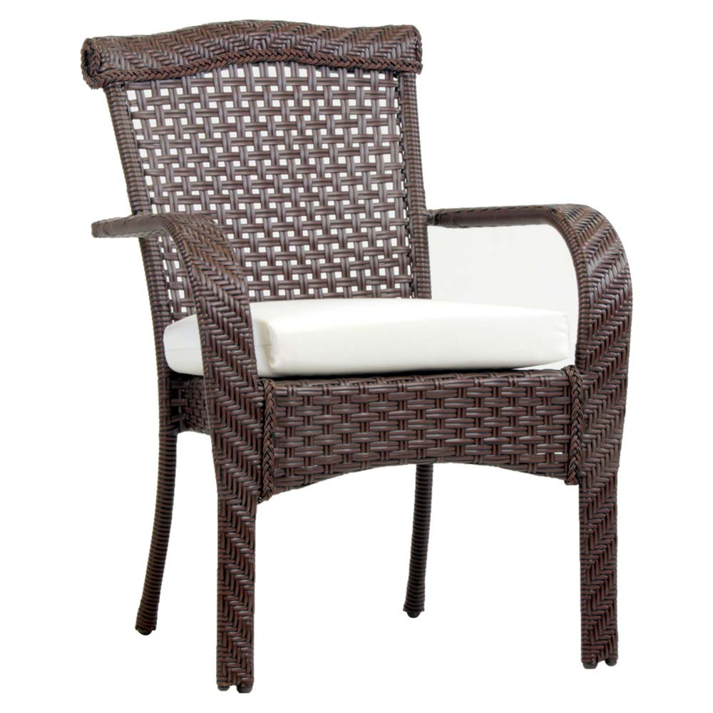 Rattan Dining Chairs: South Sea Rattan Martinique Wicker Dining Arm Chair