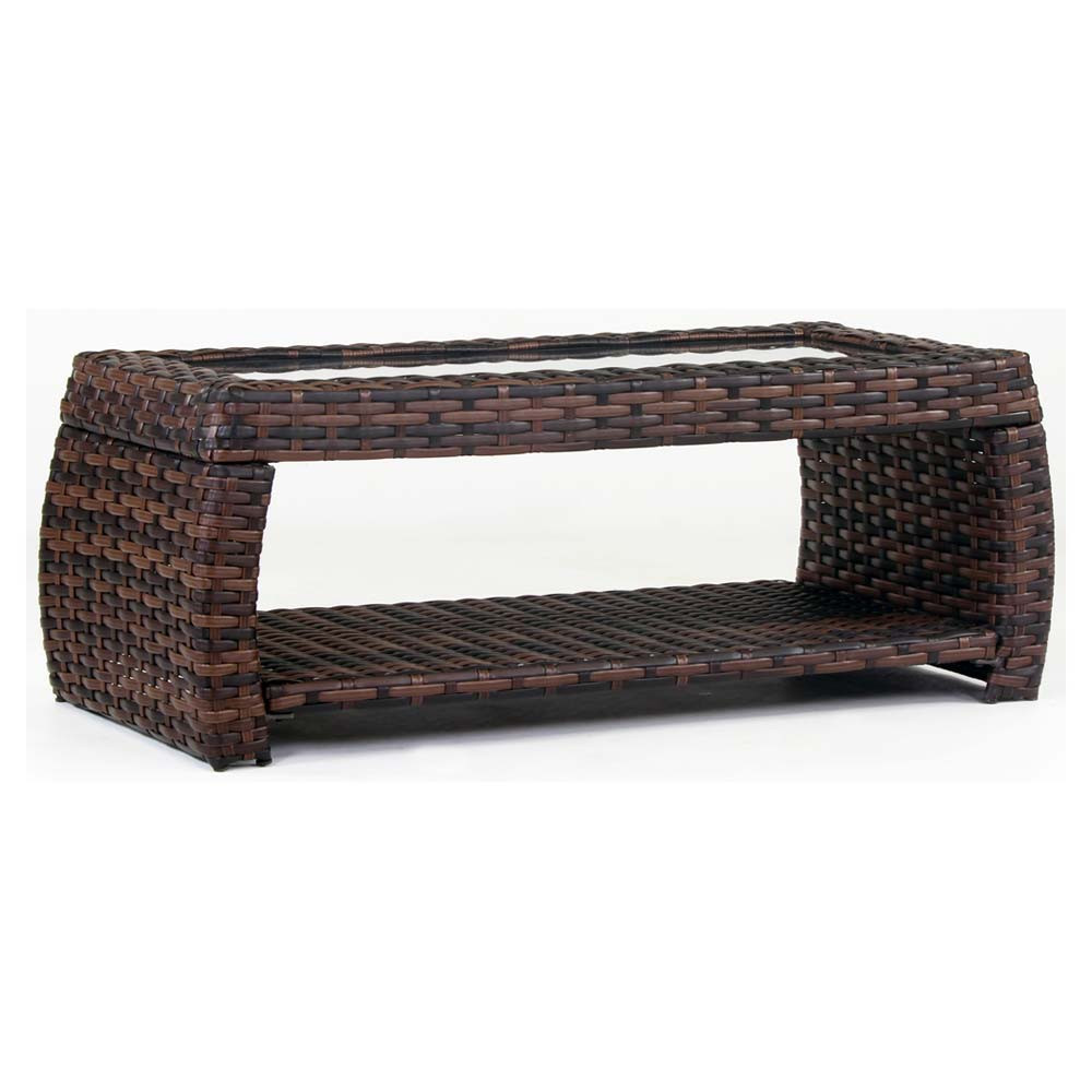 South sea rattan huntington wicker coffee table for Wicker coffee table