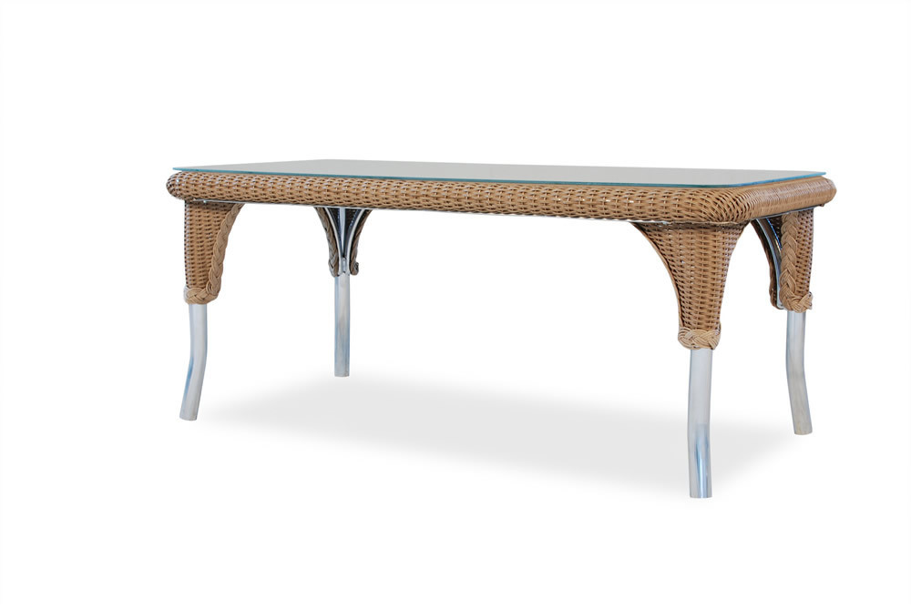 Lloyd flanders wicker coffee table wicker coffee tables for Coffee tables with seating