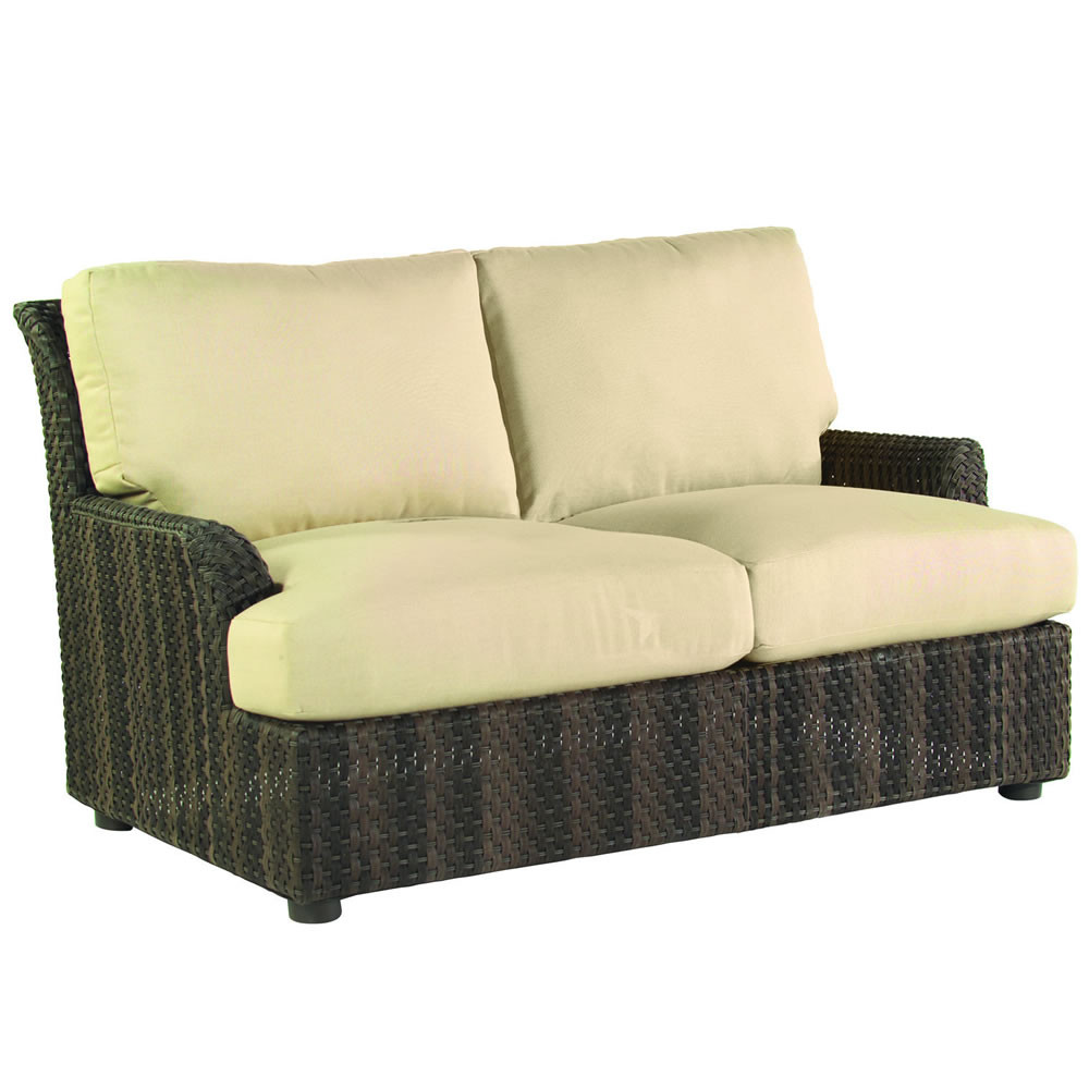 Whitecraft By Woodard Aruba Wicker Loveseat Replacement Cushion Whitecraft By Woodard Aruba